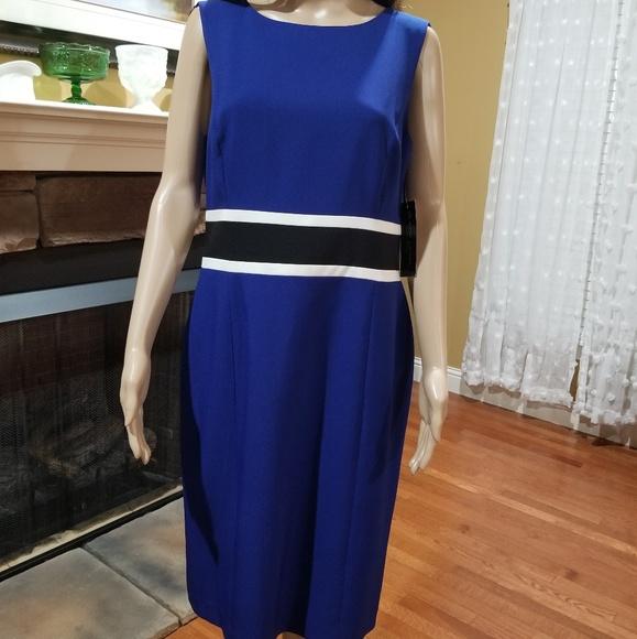 466be77a Evan Picone Dresses | Black Label Sleeveless Dress Sz 10 Nwt | Poshmark
